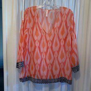 SWEETPEA orange printed tunic